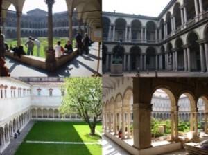元修道院建築のキャンパス利用の事例